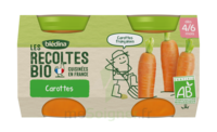 Blédina Les Récoltes Bio Carottes de Bretagne 2 Pots/130g à CHASSE SUR RHONE