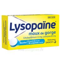 LysopaÏne Comprimés à Sucer Maux De Gorge Sans Sucre 2t/18 à CHASSE SUR RHONE