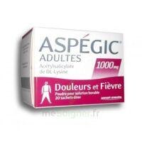 Aspegic Adultes 1000 Mg, Poudre Pour Solution Buvable En Sachet-dose 20 à CHASSE SUR RHONE