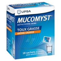 MUCOMYST 200 mg Poudre pour solution buvable en sachet B/18 à CHASSE SUR RHONE