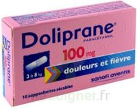 DOLIPRANE 100 mg Suppositoires sécables 2Plq/5 (10)