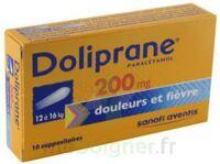 DOLIPRANE 200 mg Suppositoires 2Plq/5 (10) à CHASSE SUR RHONE