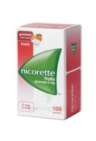 Nicorette 2 Mg Gomme à Mâcher Médicamenteuse Sans Sucre Fruits Plq/105 à CHASSE SUR RHONE
