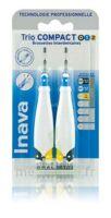 Inava Brossettes Tri Compact étroit  012 Noir 0,6mm/ Bleu 0,8mm/ Jaune 1mm à CHASSE SUR RHONE