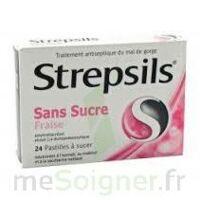 STREPSILS FRAISE SANS SUCRE, pastille édulcorée à l'isomalt, au maltitol et à la saccharine sodique à CHASSE SUR RHONE