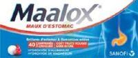 MAALOX MAUX D'ESTOMAC HYDROXYDE D'ALUMINIUM/HYDROXYDE DE MAGNESIUM 400 mg/400 mg SANS SUCRE FRUITS ROUGES, comprimé à croquer édulcoré à la saccharine sodique, au sorbitol et au maltitol à CHASSE SUR RHONE