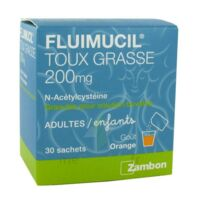 FLUIMUCIL EXPECTORANT ACETYLCYSTEINE 200 mg SANS SUCRE, granulés pour solution buvable en sachet édulcorés à l'aspartam et au sorbitol à CHASSE SUR RHONE