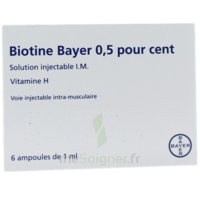 BIOTINE BAYER 0,5 POUR CENT, solution injectable I.M. à CHASSE SUR RHONE