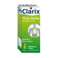 CLARIX TOUX SECHE PENTOXYVERINE 0,15 % ENFANTS, sirop à CHASSE SUR RHONE