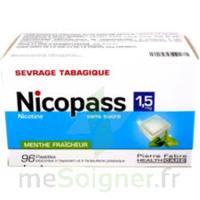 Nicopass 1,5 Mg Pastille Sans Sucre Menthe Fraîcheur Plq/96 à CHASSE SUR RHONE