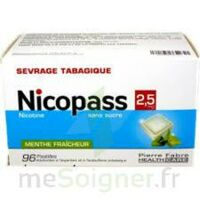 Nicopass 2,5 Mg Pastille Menthe Fraîcheur Sans Sucre Plq/96 à CHASSE SUR RHONE