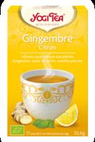 Yogi Tea Tisane Ayurvédique Gingembre Citron Bio 17 Sachets/1,8g à CHASSE SUR RHONE