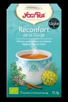 Yogi Tea Tisane Ayurvédique Réconfort De La Gorge Bio 17 Sachets/1,8g à CHASSE SUR RHONE