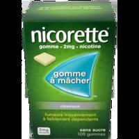NICORETTE 2 mg Gom à mâcher médic sans sucre menthe fraîche Plq/105gom à CHASSE SUR RHONE