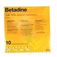 Betadine Tulle 10 % Pans Méd 10x10cm 10sach/1 à CHASSE SUR RHONE
