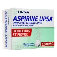 ASPIRINE UPSA TAMPONNEE EFFERVESCENTE 1000 mg, comprimé effervescent à CHASSE SUR RHONE