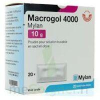 MACROGOL 4000 MYLAN 10 g, poudre pour solution buvable en sachet-dose à CHASSE SUR RHONE