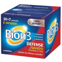 Bion 3 Défense Junior Comprimés à croquer framboise B/30+7 à CHASSE SUR RHONE