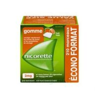 Nicorette 2 Mg Gomme à Mâcher Médicamenteuse Sans Sucre Fruits Plq/210 à CHASSE SUR RHONE