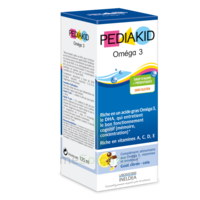 Pédiakid Omega 3 Sirop framboise 125ml à CHASSE SUR RHONE