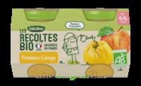 Blédina Les Récoltes Bio Pommes Coings 2 Pots/130g à CHASSE SUR RHONE