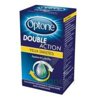 OPTONE DOUBLE ACTION Solution oculaire yeux irrités Fl/10ml promo à CHASSE SUR RHONE